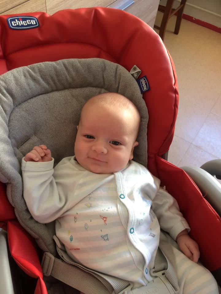 voila mon petit fils isaac  2 mois aujourd hui