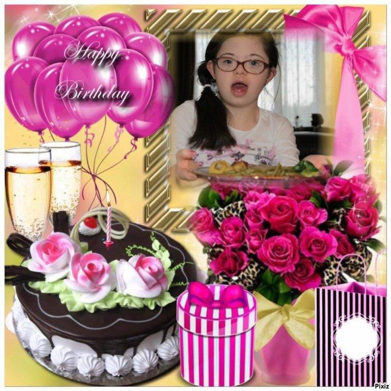 le 9 mars  anniversaire  de notre petite fille jalna 18 ans