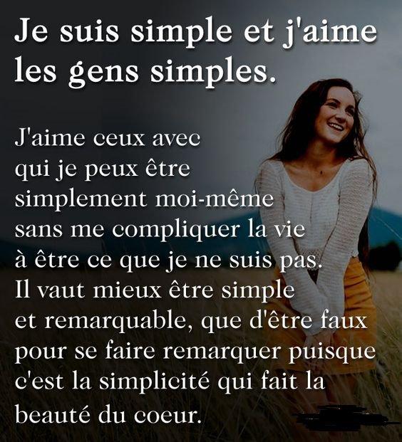 je suis simple