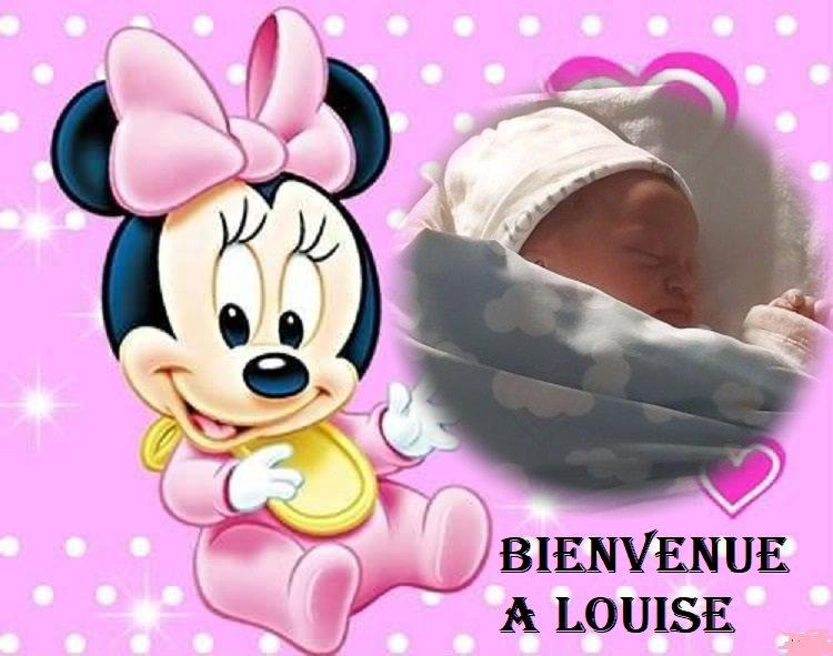 bienvenue a Louise  cadeau pour mon amie usrmarine