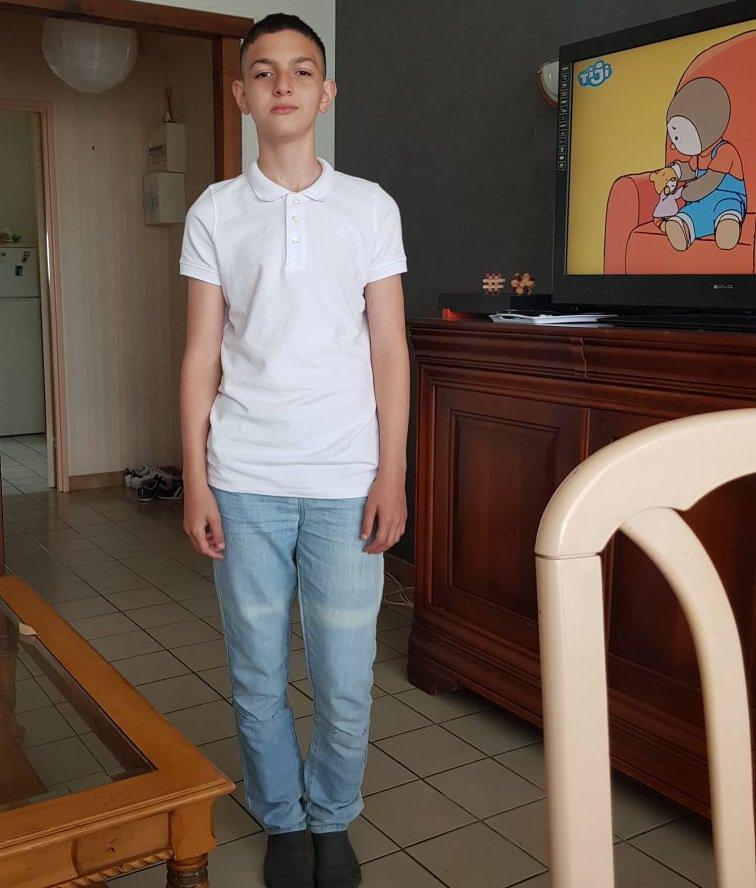 voila mon petit fils wail  12ans et demi