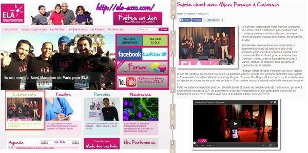 ELA (Association Européenne contre les Leucodystrophies) ♥♪♪♥ Youtube ★ Forum ★ Photos ★ FaceBook ★ Test ★ Twitter  ★ GroupeFan ♥♪♪♥