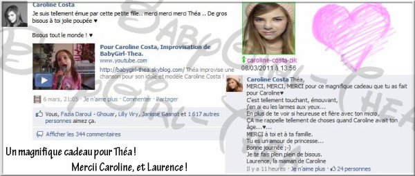 Théa & Caroline ♥♪♪♥ Youtube ★ Forum ★ Photos ★ FaceBook ★ Test ★ Twitter  ★ GroupeFan ♥♪♪♥