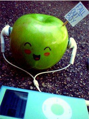 La pomme et mp3