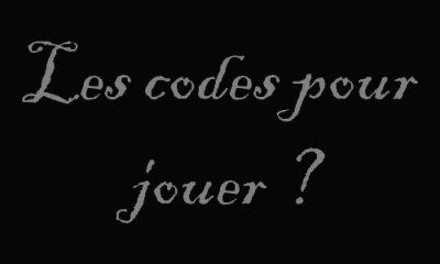Contexte + Réglement + Les codes pour jouer ?