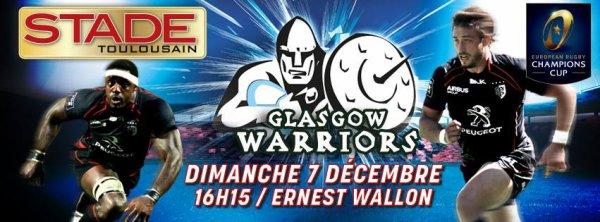 STADE TOULOUSAIN - GLASGOW WARRIORS - DIMANCHE 7 DECEMBRE 2014