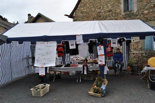 Stand au marché de Noël de Ste Fortunade