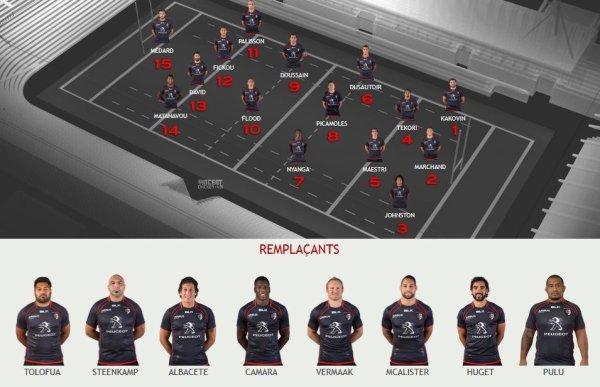 Composition de l'équipe qui jouera contre l'ASM