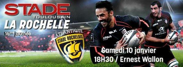 Top 14 - Pour la 16eme journée le Stade Toulousain reçoit La Rochelle