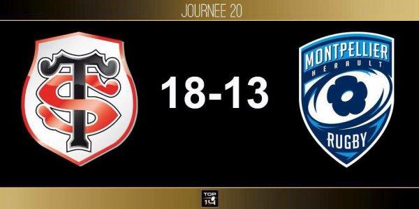 Top 14 - 20 eme journée Victoire du Stade Toulousain