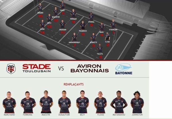 Top 14 - 22 eme journée - Stade Toulousain / Bayonne - samedi 11 avril à 15h