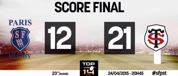 Top 14 - 23 eme journée victoire du STADE TOULOUSAIN