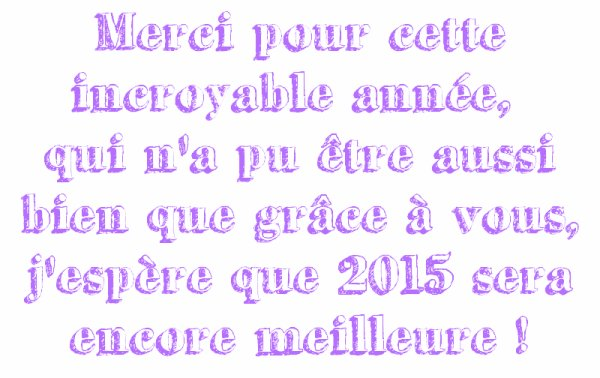 Bonne année 2015! :)