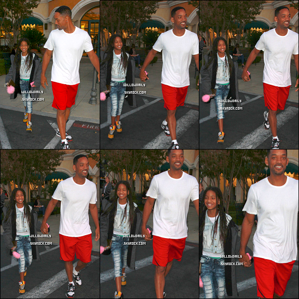 --[/x:]  25/09 ..Willow et son père Will Smith quittent le Barnes & Nobles où Will a fêté ses 43 ans !J'adore les chaussures de Willow ! Elle porte la veste de son père, c'est chou ♥ Happy Bday Will Smith !! --[/x:]
