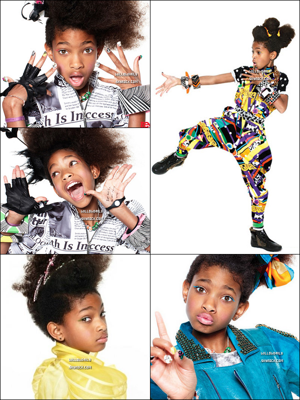 . QUAND WILLOW POSE POUR TEEN VOGUE CA DONNE CA  .