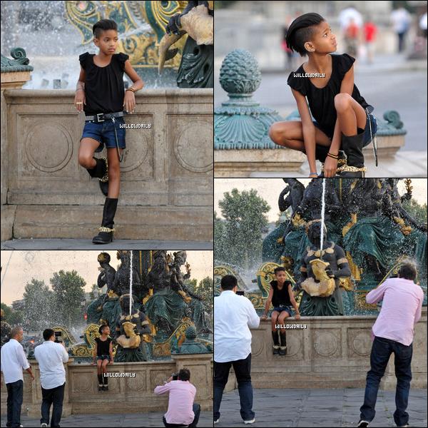 . 26/06 ..Willow Smith réalise un magnifique photoshoot dans notre belle capital Paris. La tenue n'est pas varié pour une fille de son âge mais Willow  la porte super bien ! Top or Flop ?  .