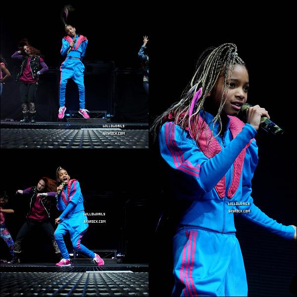 --[/x:]  04/03 ..Le My World Tour a commencé ! Les photos de la performance en Angleterre à Birmingham : Willow est pleine d'énergie, ses performances sur Rockstar, Whip My Hair et 21st century Girl sont vives, magnifique. Top !!..  --[/x:]