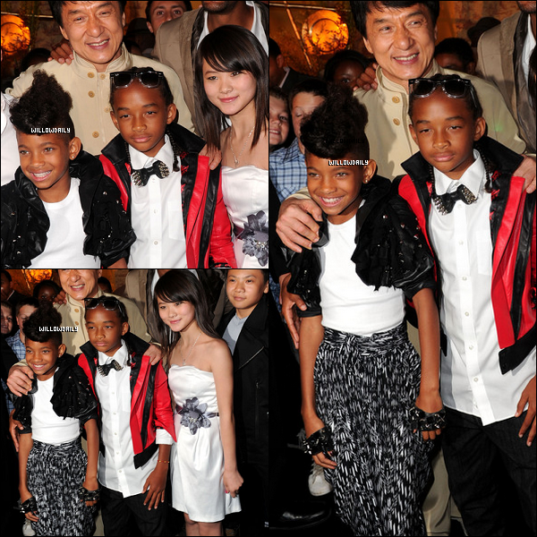 . 07/06 .. Willow, Jaden et Jackie Chan à à l'After Party de l'avant première de Karaté Kid à Los Angeles. La tenue de Willow est resplendissante ! C'est encore et comme toujours un gros top pour la miss ! Vous en pensez quoi ?  .