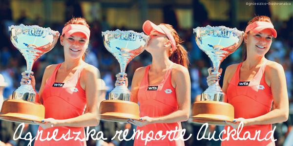 » Tournoi International d'Auckland. La saison 2013 commence pour Agnieszka, en route pour un premier succès?