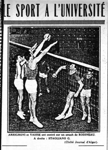 Le volley à Alger en 1956