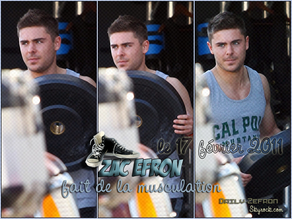 → Zac EFRON // Candids . • ˙ • . • ˙ • . • ˙ • . • ˙ • . • ˙ • . • ˙ • . • ˙ • . • ˙ • . •˙ • .  DAILY-ZEFRON ★.•°•.•Zac Efron tout en muscles•.•°•.★  « semaine sportive à Hollywood » - . • ˙ • . • ˙ • . • ˙ • . • ˙ • . • ˙ • . • ˙ • . • ˙ • . • ˙ • . •˙ • .  « 17.02.2011 »