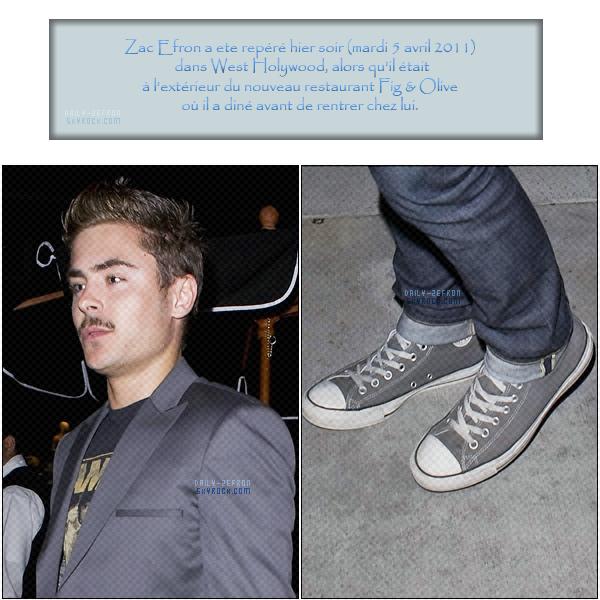 → Zac EFRON // Candids . • ˙ • . • ˙ • . • ˙ • . • ˙ • . • ˙ • . • ˙ • . • ˙ • . • ˙ • . •˙ • .  DAILY-ZEFRON ★.•°•.•Zac dans les rues de Los Angeles•.•°•.★  « De Retour à L.A. & New Look » - . • ˙ • . • ˙ • . • ˙ • . • ˙ • . • ˙ • . • ˙ • . • ˙ • . • ˙ • . •˙ • .  « 05.04.2011 »