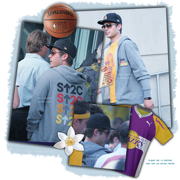 → Zac EFRON // Candids - . • ˙ • . • ˙ • . • ˙ • . • ˙ • . • ˙ • . • ˙ • . • ˙ • . • ˙ • . •˙ • .  DAILY-ZEFRON ★.•°•.•Arrivant à un match des Lakers•.•°•.★  « Au Staples Center à Los Angeles » - . • ˙ • . • ˙ • . • ˙ • . • ˙ • . • ˙ • . • ˙ • . • ˙ • . • ˙ • . •˙ • .  - « 26.04.2011 »