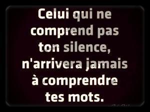 Silence........