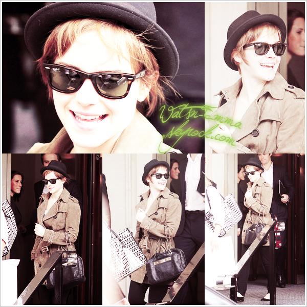 8 JUILLET -Des candids d'Emma en abondance & on ne s'en lasse pas ! C'est une Emma souriante qui a quitté son hôtel pour se rendre à l'Aeroport de Londres surement pour se rendre à New York où elle fera la promo de Harry Potter ce 10 & 11 juillet!