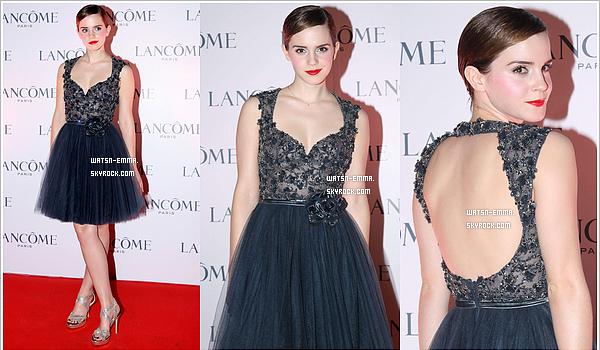 . 7 décembre 2011 - Toujours à Hong Kong, Emma a assisté à un diner VIP organisé par Lancôme. tenue : top / make up : bof .