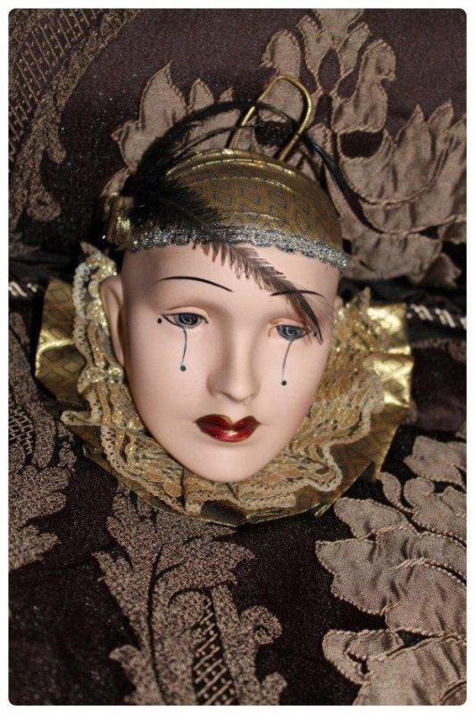 Masque vénitien Pierrot