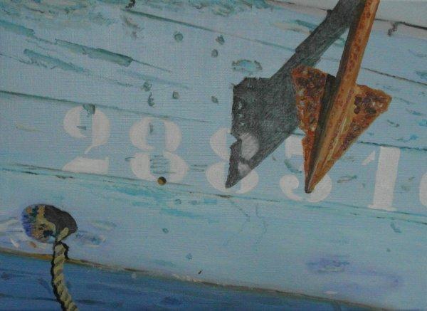 souvenir du morbihan ; huile 33x24