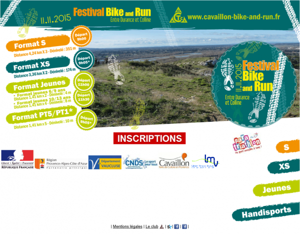 EVENEMENT DU 11 NOVEMBRE 2015, NOTRE BIKE and RUN