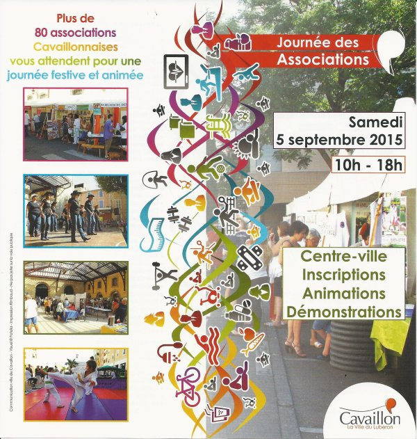 LA JOURNEE DES ASSOCIATIONS 2015, LE 05 SEPTEMBRE...