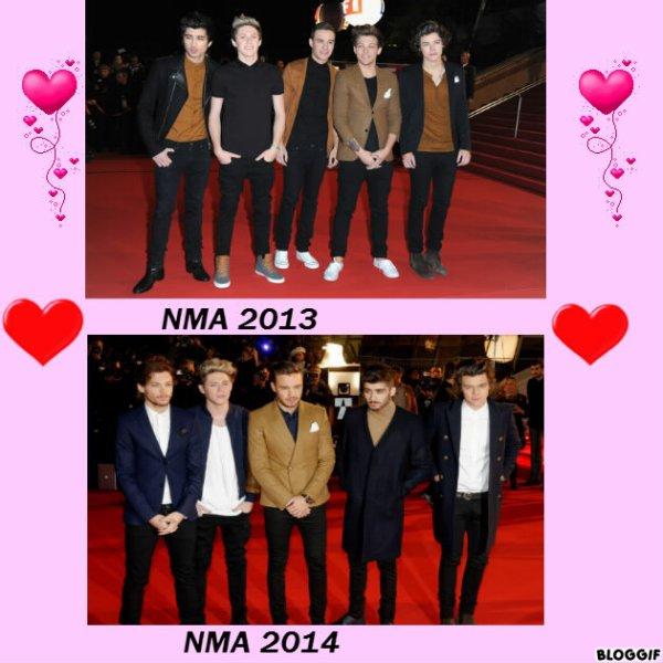 Les One Direction au NRJ Music Awards