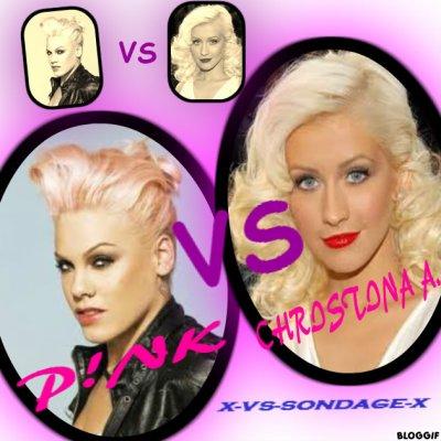 - christina aguilera VS pink  -