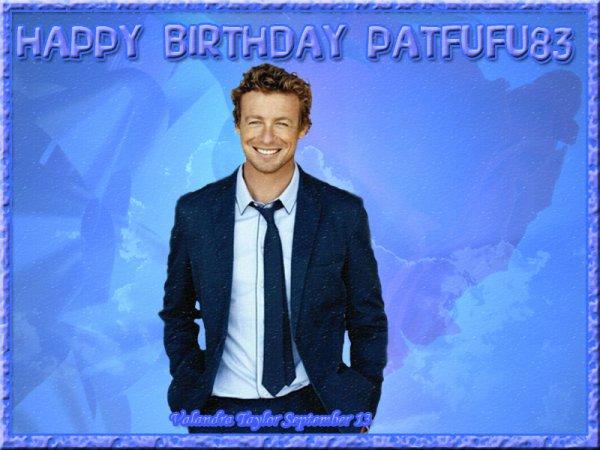 Joyeux anniversaire Pat.. Avec 3 jours de retard…