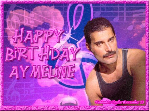 Joyeux anniversaire Aymeline ;-)...