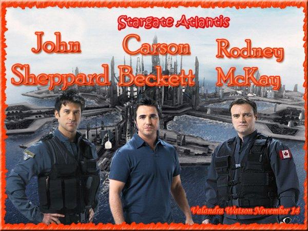 Pour mon retour sur mon blog, une créa sur mes 3 chouchous dans Stargate Atlantis: Carson Beckett, John Sheppard et Rodney McKay (l) (l) (l)...
