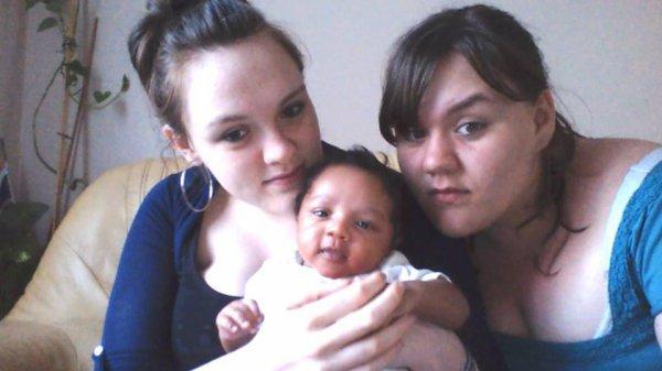 Ma soeur lesly, son petit et loryne