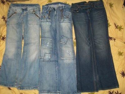 3 jeans, 5 cerises chacun , 10 cerises les 3 . PROMO .