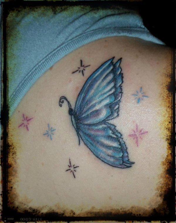 papillon et etoiles