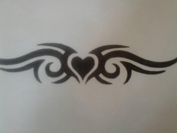 Tribal avec un coeur blog de dessin manga bleach - Dessin tribal facile ...