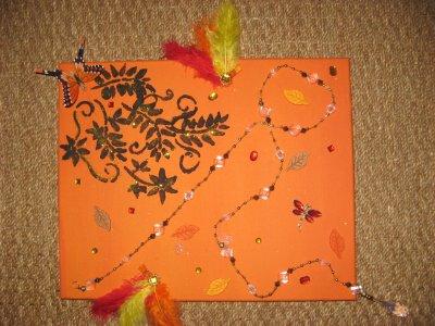 collier fond orange