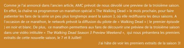 Une preview de la saison 3 en Juillet!