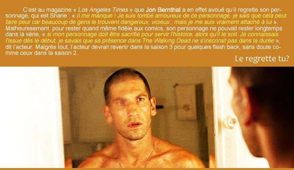 Jon Berthal regrette son personnage!