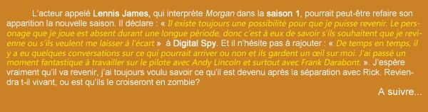 Morgan : un retour dans la saison 3?