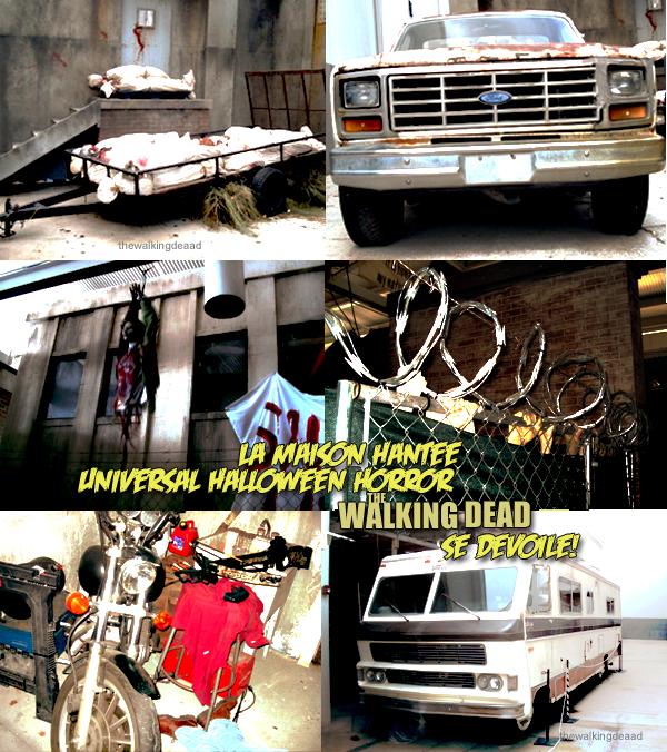 """Des images de l'intérieur de la maison hantée """" The Walking Dead """" à Universal Studio!"""