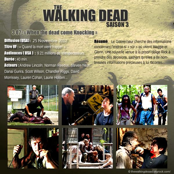 """Saison 3, épisode 7. """" When the Dead come Knocking """" [Regarder cette épisode]"""