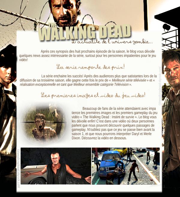 La série remporte des prix, et les premières images du jeu vidéo!